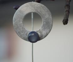 Ohrhänger mit grauem Mondstein