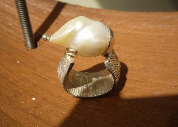 Barockperlen-Ring
