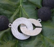 Lavakugelkette mit dekorativem Sepia-Verschluss