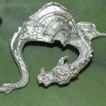 Drache Silber